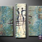 Hand-painted Abstract Oil Painting with Stretched Frame W5105C