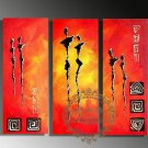 Hand-painted Abstract Oil Painting with Stretched Frame W5204