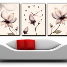 Modern Scenic Wall Clock in Canvas 3pcs H3001A