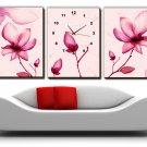Modern Scenic Wall Clock in Canvas 3pcs H3001B