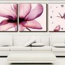 Modern Scenic Wall Clock in Canvas 3pcs H3003B