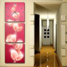 Modern Scenic Wall Clock in Canvas 3pcs S3005