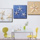 Modern Stars Wall Clock in Canvas 3pcs  H3501