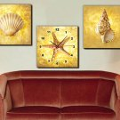 Modern Style Conch Wall Clock in Canvas 3pcs  H3503