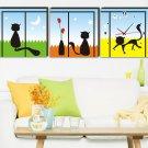 Modern Style Scenic Canvas Wall Clock 3pcs  H3506