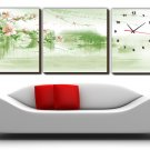 Modern Style Scenic Canvas Wall Clock 3pcs H3511