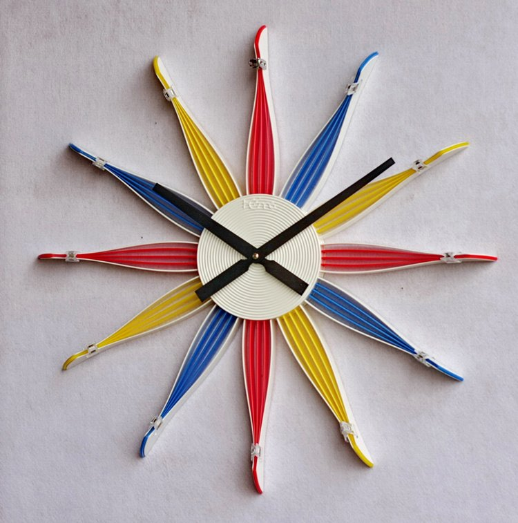 DIY Paris Style Plastic Wall Clock
