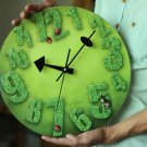 Spring Season Style Glass Wall Clock
