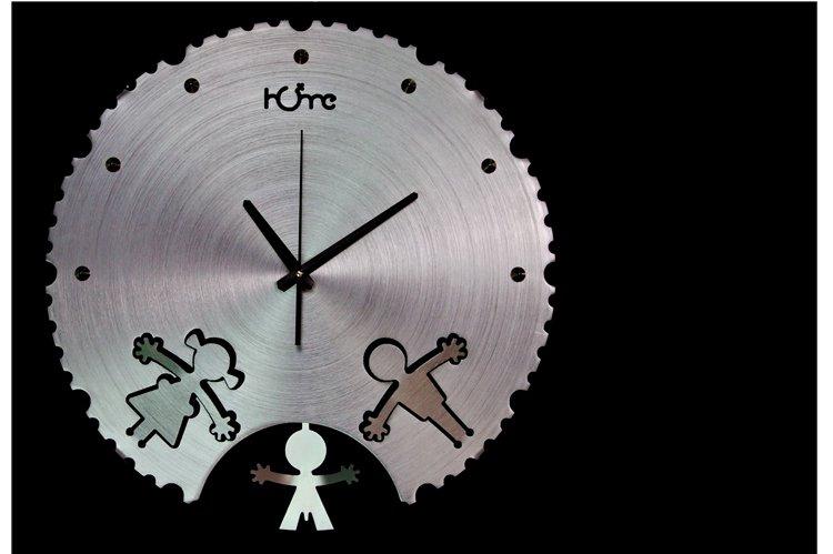 Happy Family Aluminum Wall Clock