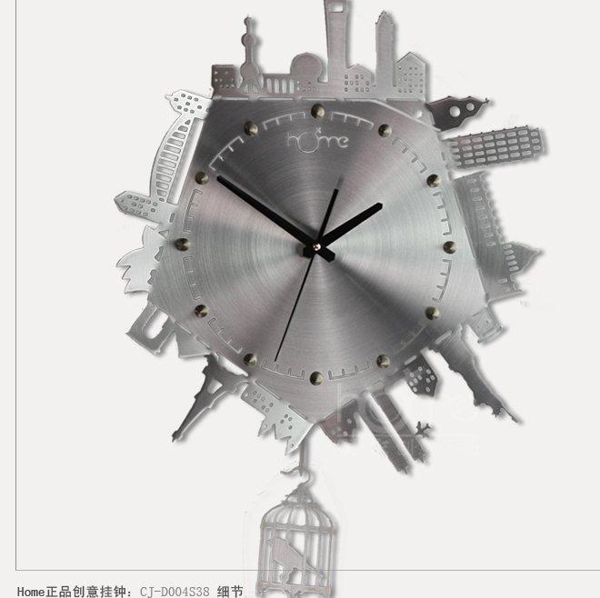 City Design Aluminum Wall Clock