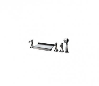 NEW**deck mount Waterfall tub Faucet Satin nickle finish 1079
