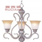 Art style 3 Light Chandelier In Vase Design