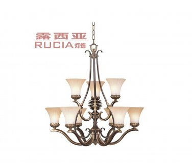 European Transitional Chandelier Light with 9 Lights Up in Urban Style CH076-9-41