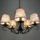 European-Style 5 Light Chandelier with sliver fabric shade 6021/5p