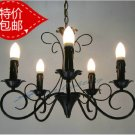 European-Style 5 Light Chandelier with white  candle shade  60915P