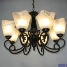 European-Style 8 Light Chandelier with white shade 60768P