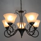 European-Style 5 Light Chandelier with white  shade  0025p