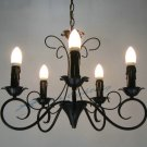 European-Style 5 Light Chandelier with white candle shade  60925P