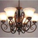 European-Style 6 Light Chandelier with white  shade 60686P