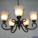 European-Style 5 Light Chandelier with white  shade 60755P