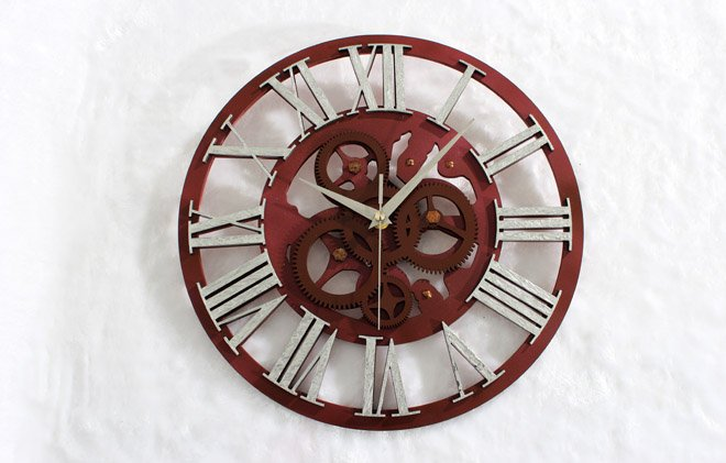 "15""H Gear Like Style Wall Clock - SILVER"