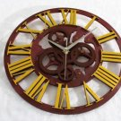 "15""H Gear Like Style Wall Clock - GOLDEN"