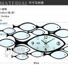 Fish Style Metal Wall Clock