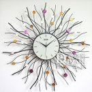Floral Style Metal Wall Clock - ZE2001