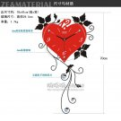 Heart Style Metal Wall Clock