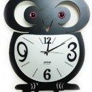 Owl Style Metal Wall Clock