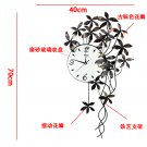 Floral Style Metal Wall Clock - ZE