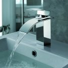 Contemporary Waterfall Bathroom Sink Faucet (Chrome Finish) MS02