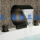 NEW*Contemporary ORB Finish Waterfall basin Faucet widerspread HW2049
