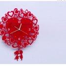 Retro Style Heart Shape Wall Clock -XX01(SMALL)