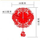 Country Style Decoupage Type Acrylic Wall Clock - SLF01(SMALL)