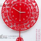 Country Style Decoupage Type Acrylic Wall Clock - SJHK01
