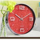 "12""H Modern Style Brief Mute Wall Clock - LEYU8014-1"