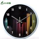 """12""""H Brief Round Mute Poloyresin Wall Clock - LEYU6352"""