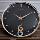 "14""H Mute High-class Wall Clock With Jewelry Decoration -JEBELY/GE421-01B"