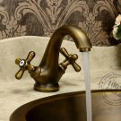 Antique Inspired Bathroom Sink Faucet - Antique Brass Finish KZ-116Q