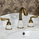 Antique Brass Widespread Two Handles Bathroom Sink Faucet KZ-388Q