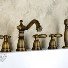Antique Brass Finish Tub Faucet with Hand Shower KZ-527Q
