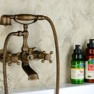 Antique Inspired Tub Faucet with Hand Shower (Antique Brass Finish) KZ-565Q