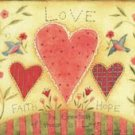 Loves in World Cartoon Canvas Print - K036B