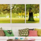 Stretched Canvas Art Landscape Green Tree Set of 3 - YAYI003