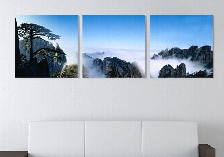 Stretched Canvas Art Landscape Mountain Set of 3 - YAYI101