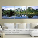 Stretched Canvas Art Landscape Mountain Set of 3 - YAYI106