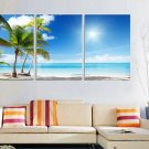 Stretched Canvas Art Landscape Coastal Beach Set of 3 - YAYI202