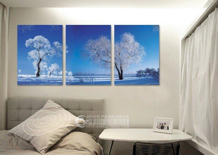 Stretched Canvas Art Landscape Set of 3 - YAYI304