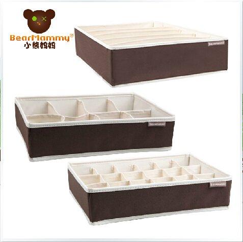 3 sets Compartment Soft Lid Underwear Storage Box---TM-075N